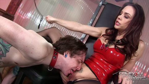 Armpit fetish of slave sniffing mistresses stinky sweat