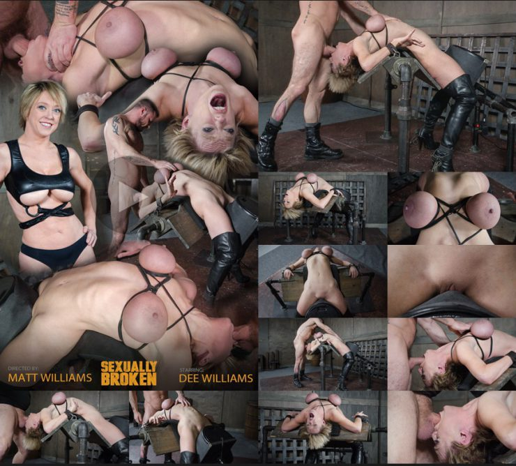 SEXUALLY BROKEN: Feb 8, 2017: Dee Williams, our sexy resident Top, gets grabbed, severely bound, Brutally face fucked on a sybian! | Dee Williams | Matt Williams | Sergeant Miles