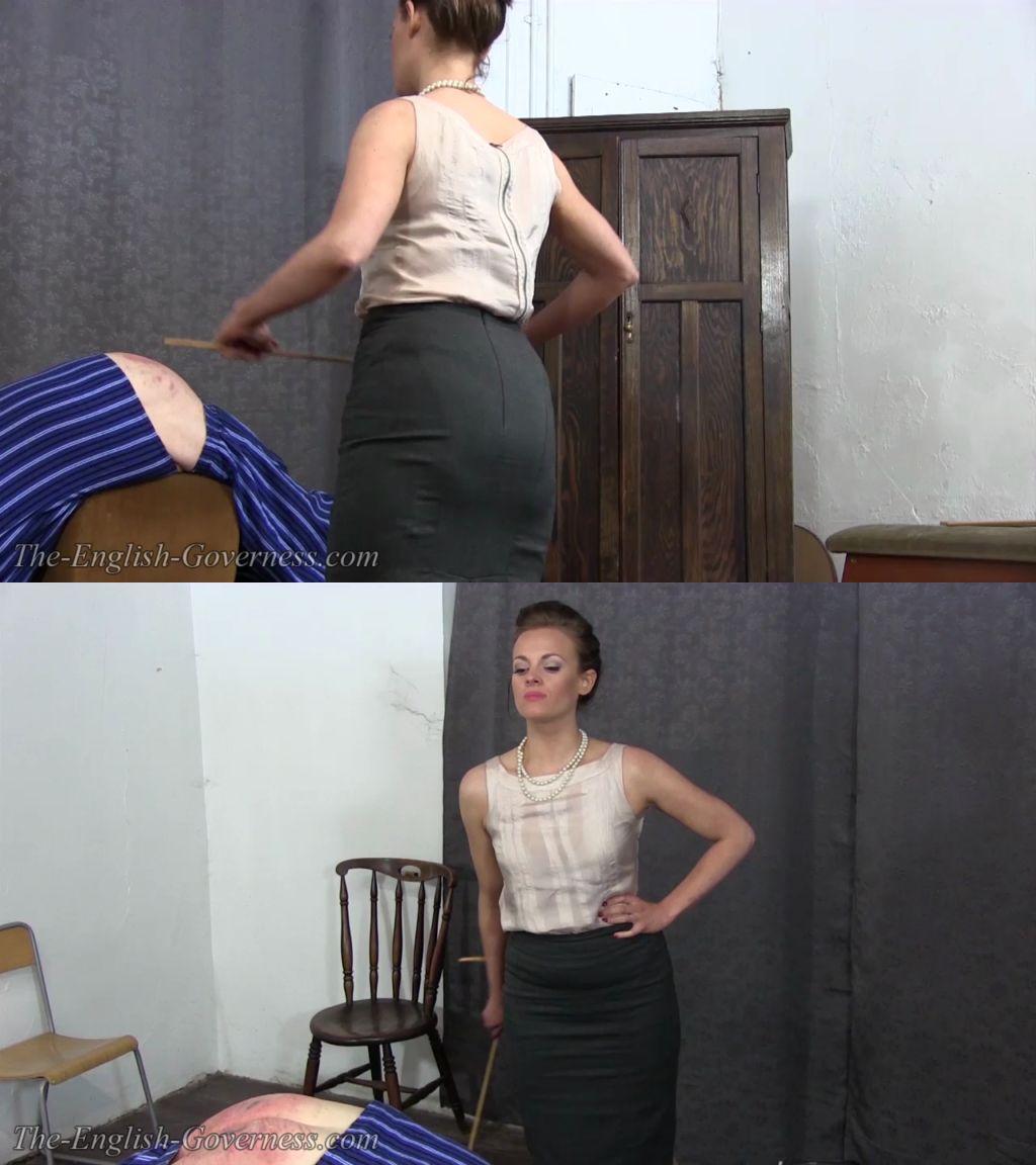 strict governess spanks