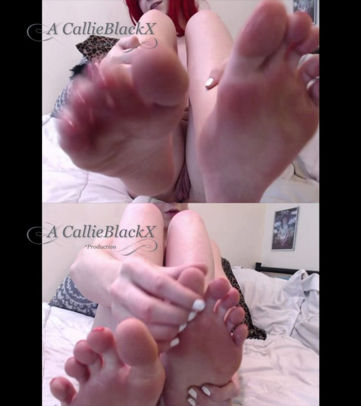 CallieBlackX – Give In To Me & Jerk It To My Feet