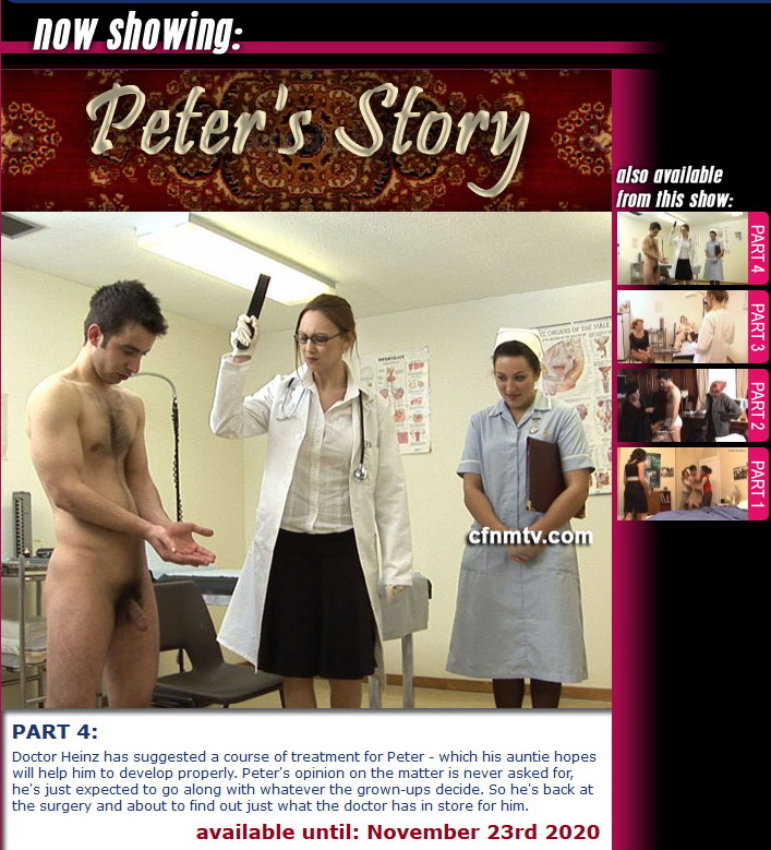 cfnmtv: Peter's Tale  (Part 1-4) (Release date: Sep 29, 2020)