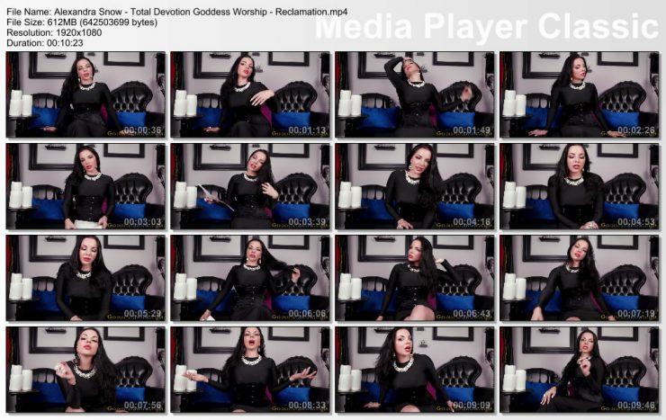 Alexandra Snow: Total Devotion Goddess Worship – Reclamation