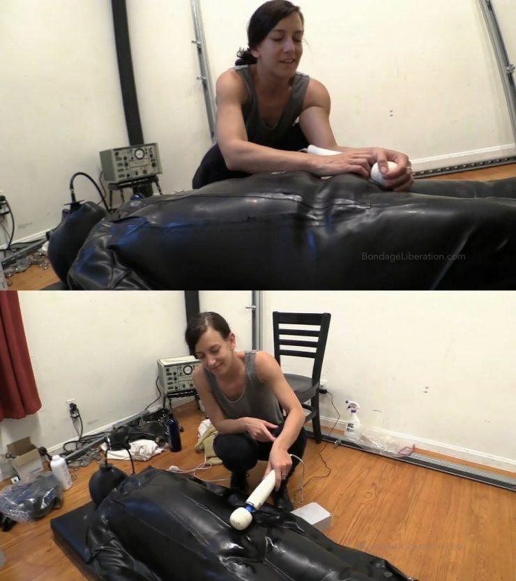 Bondage Liberation Mark & Elise Graves : The Vacuum Sack Experience – Elise Guides Her Rubber-Loving Friend through his first Rubber Vacuum Sack Experience – gag – vibrator – teasing (Release date: Apr 09, 2021)