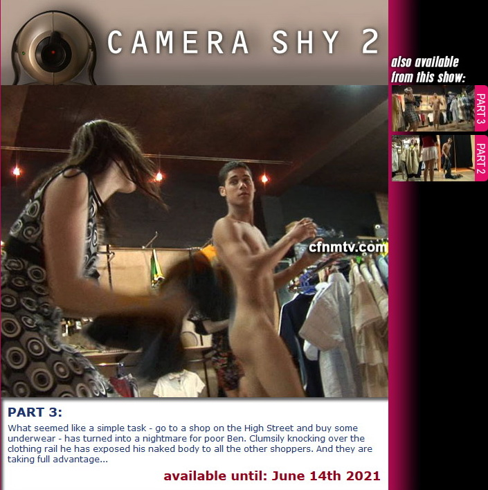 cfnmtv: Camera Shy 2 (Part 1-2) (Release date: May 11, 2021)