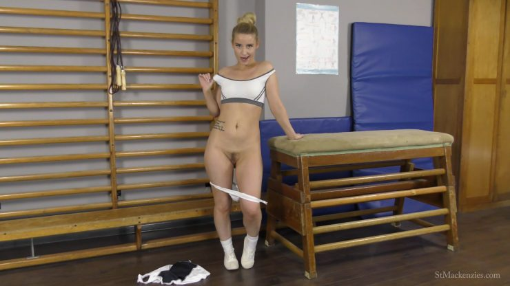 St Mackenzie's Essie Gilligan: Pretty School Girl Essie Strips & Teases While Making You Jerk Off For Her – JERK OFF INSTRUCTION