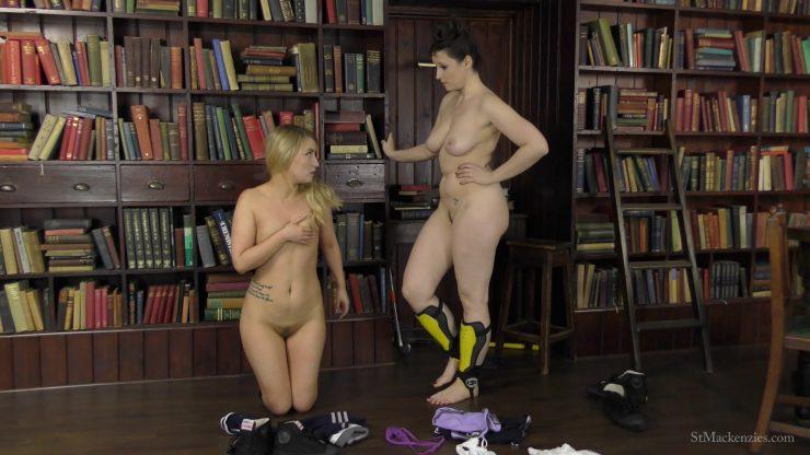 St Mackenzie's Essie Gilligan & Ivy Rain: Mean School Girl Ivy Makes Fellow Student Essie Smell Her Stinky Feet & Strip – FOOT FETISH