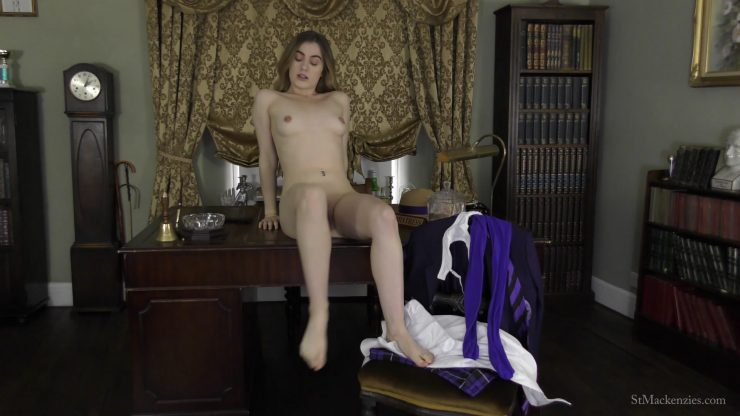 St Mackenzie's Lola Rae: Cute School Girl Lola Plays With A Rival School Uniform While Stripping It All Off – SCHOOL UNIFORM