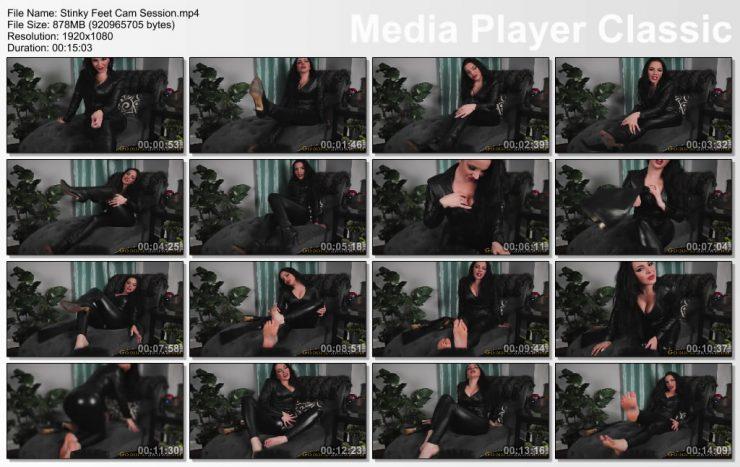 Goddess Alexandra Snow: Stinky Feet Cam Session – FOOT FETISH