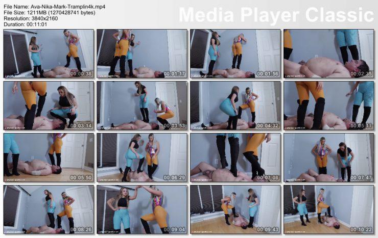 Brat Princess 2: Ava and Nika – Trample fat slave (4K) – TRAMPLING