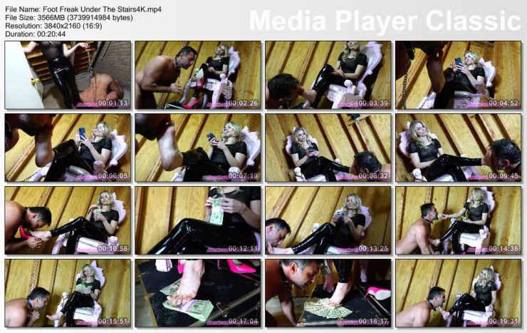 American Mean Girls Princess Amber: Foot Freak Under The Stairs (4K) – FOOT WORSHIP