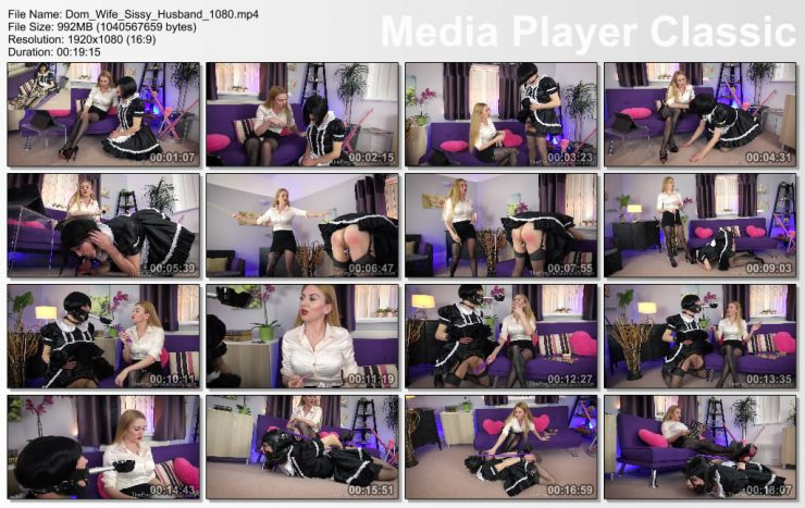 The English Mansion Miss Suzanna Maxwell: Dom Wife Sissy Husband (Complete Movie) – chastity piercings