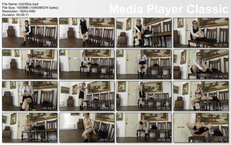 St Mackenzie's Lola Rae: Geeky School Girl Lola Strips Off Her Uniform While Playing With Her Ankle Socks – topless