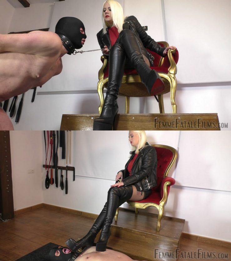 Femme Fatale Films Divine Mistress Heather: My Lucky Leather Boot Licker – Super HD – boot domination