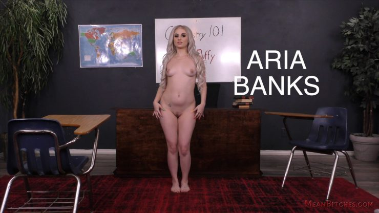 Mean World/Slave Orders: Aria Banks – In Your Face! – Foot Worship