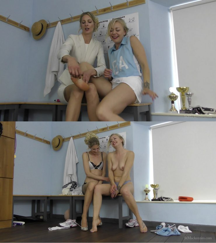 St Mackenzie's Lucy Brayford & Miss Leah: Sexy Teacher Miss Leah Strips & Relentlessly Tickles Cute Student Lucy