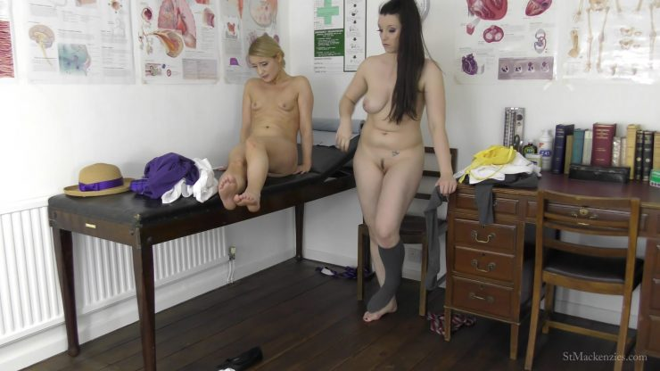 St Mackenzie's Essie Gilligan & Ivy Rain: Mean School Girl Ivy Torments Fellow Student Essie When She Sprains Her Ankle