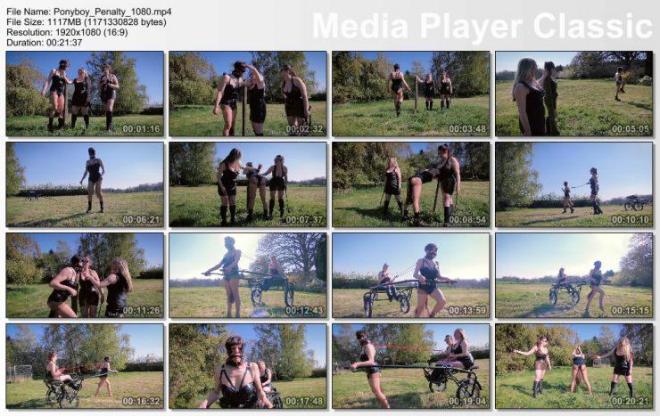 The English Mansion Mistress Evilyne & Mistress Sidonia: Ponyboy Penalty (Complete Movie) – pony gag bit